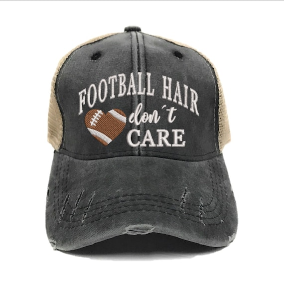 Baseball Hair Don/'t Care Hat Funny Distressed Party Hats Baseball Cap Custom Trucker Hat Women Sports Hat Game Personalize