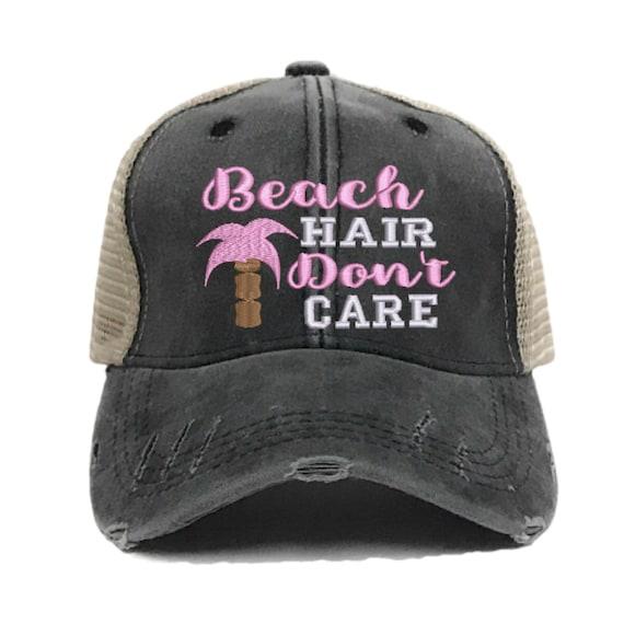 BEACH HAIR DON/'T Care Distresses Trucker Hat