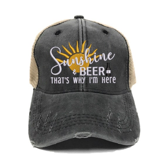 Sunshine   Beer Women s Custom Trucker Hats Funny  e3425b38f