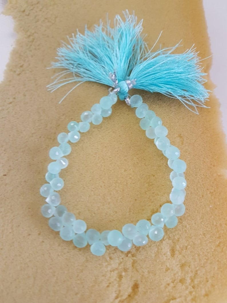 Calcy Faceted Onion Beads,aqua calcy faceted onion,AAA quality Calcy onion beads,calcy onion Briolettes 6-7 mm 8 Inches gemstone beads