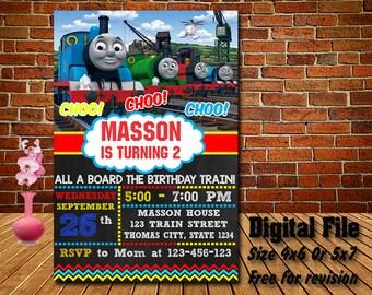 Thomas Train InvitationThomas Birthday The PartyThomas PrintableBoy Invite