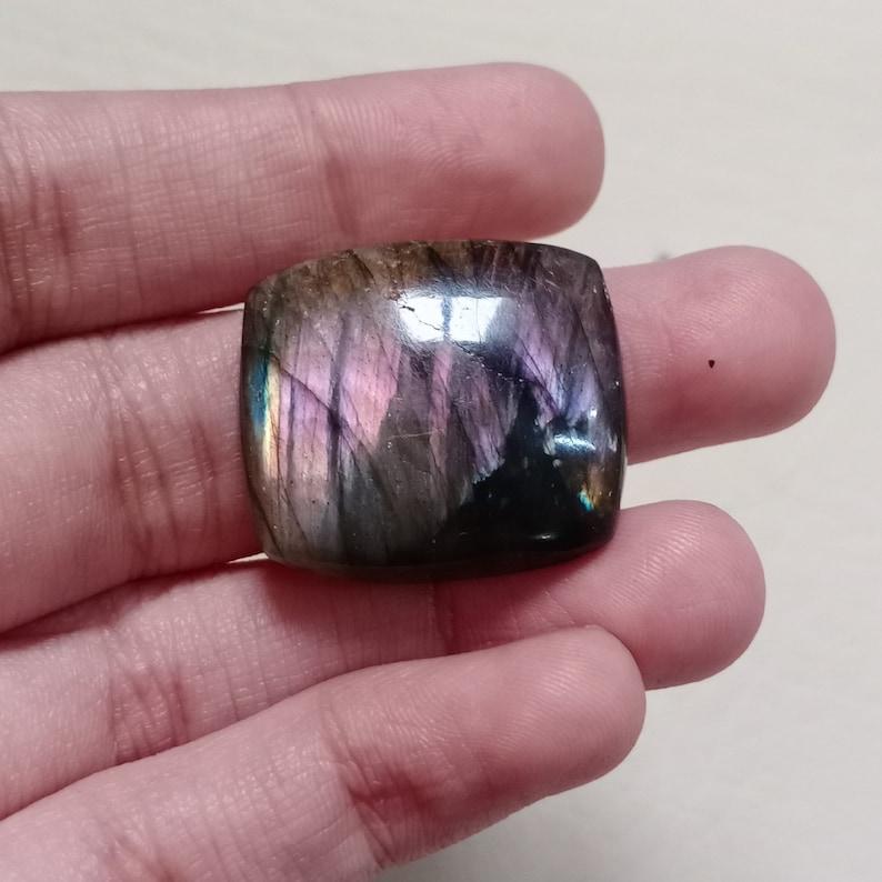 31 Carat Fantastic Purple Fire Labradorite Cabochon,Natural Labradorite Gemstone,Loose Gemstone Size 29x22x6 mm.