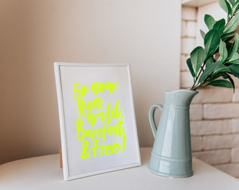 """Linocut print """"Go Now"""""""