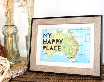 "Screenprint ""My Happy Place"""