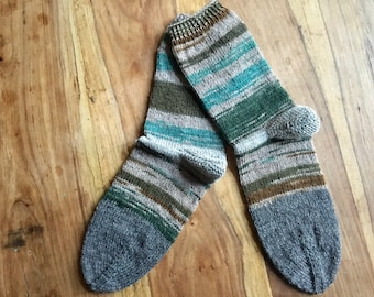 Scrappy Socks Gr3031 Hand-knitted uniquepieces of wool residues