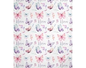 Butterfly Personalized Minky Blanket