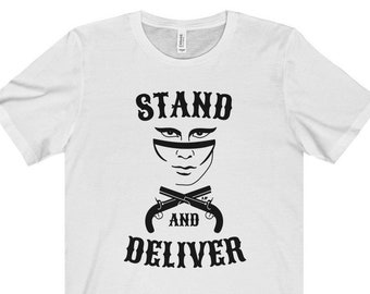 """94da6f53 Adam Ant """"Stand And Deliver"""" - Unisex Jersey Short Sleeve Tee"""