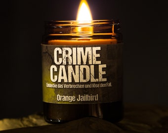 Original CRIME CANDLE - Puzzle Candle with Fragrance