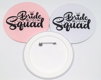 Groomswoman Pink Wedding Shield Badge