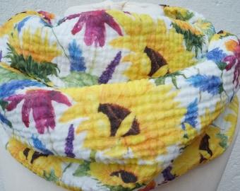 Loop scarf women's sunflower