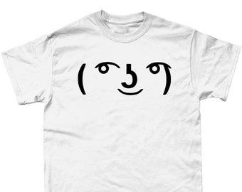 35aeb1e7 Le Lenny Face Meme Funny Computer Geek T-Shirt Internet- Available In Black  Or White Sizes Small - 5XL