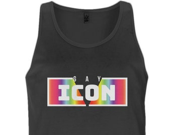 622439a79f1d37 Gay Icon LGBT LGBTQ Gay Pride Mens Tank Top Vest - Various Sizes