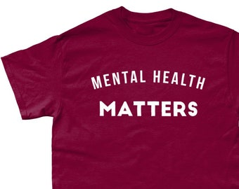 e8893d574882 Mental Health Matters Anxiety Depression Support T-Shirt - Various Colours  - Sizes Small - 5XL