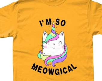 66ac1f5b I'm So Meowgical Cat Unicorn Graphic T Shirt - Various Colours