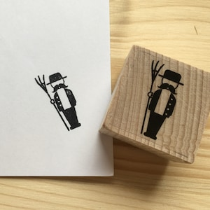 Rubber stamp set farm with six stamps wooden mounted paper craft gift self-made design stempel