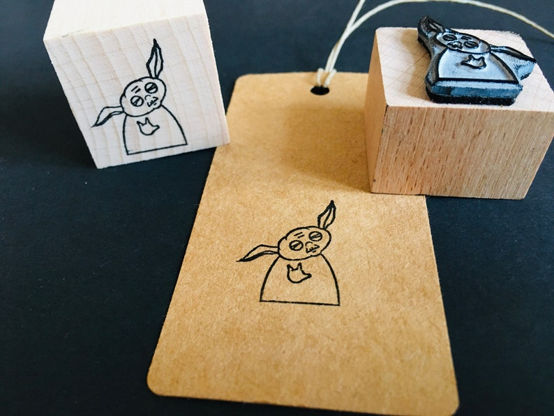 Rubber stamp yoda star wars wooden mounted paper craft gift self-made design stempel