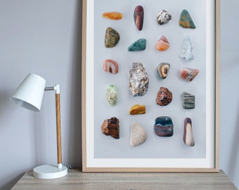 Fossicker's Delight print — A collection of rocks collected from Australia's outback.
