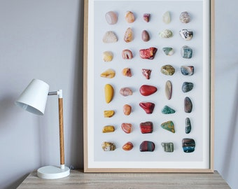 Rock candy print — A collection of rocks collected from Australia's outback