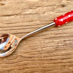 "Sugar Spoons/Jam Spoons ""red dots"""