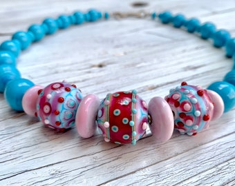 """Glass bead necklace """"Candybeads"""""""