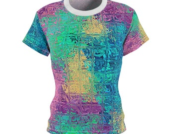 c59478978 Mermaid Colors Women's Tee, T-Shirt, polyester top, fashion shirt, apparel,  urban, modern, Ocean, Beach, Sea