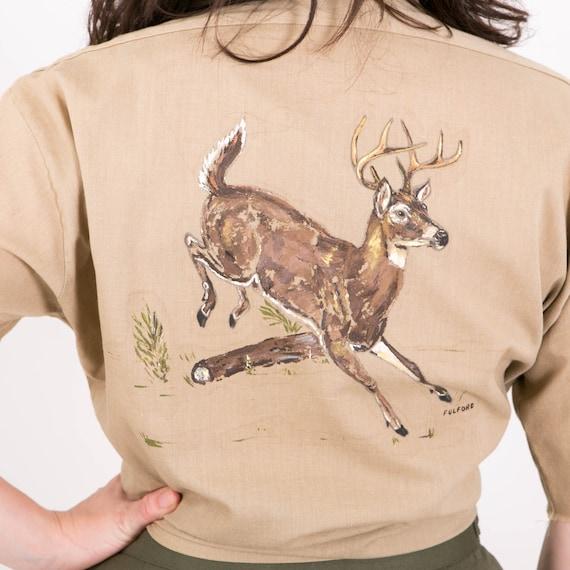 Vintage 70s Levis Hand Painted Deer Shirt