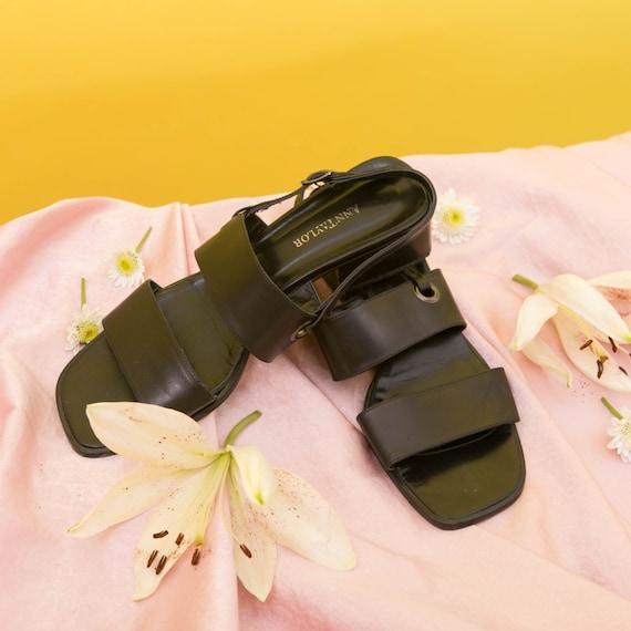 Vintage 90s Anne Taylor Sandals Slingback Heels /… - image 6