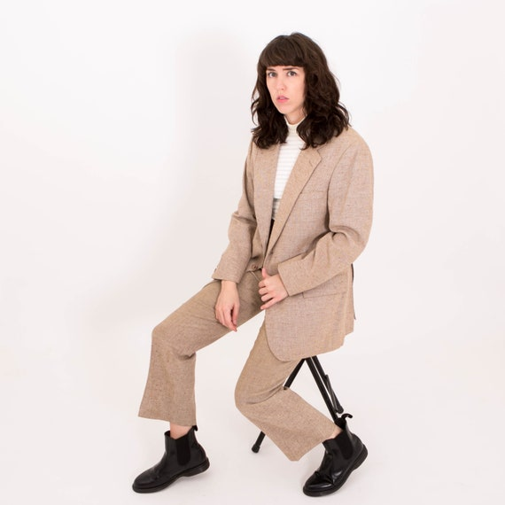 Vintage 1970s Suit Brown Three Piece