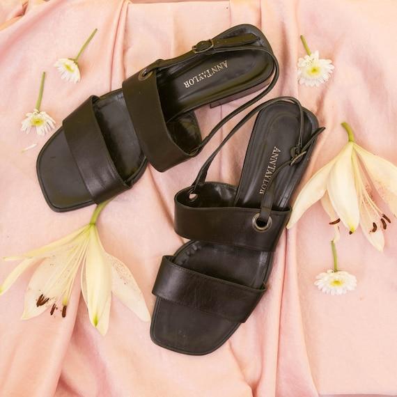 Vintage 90s Anne Taylor Sandals Slingback Heels /… - image 1