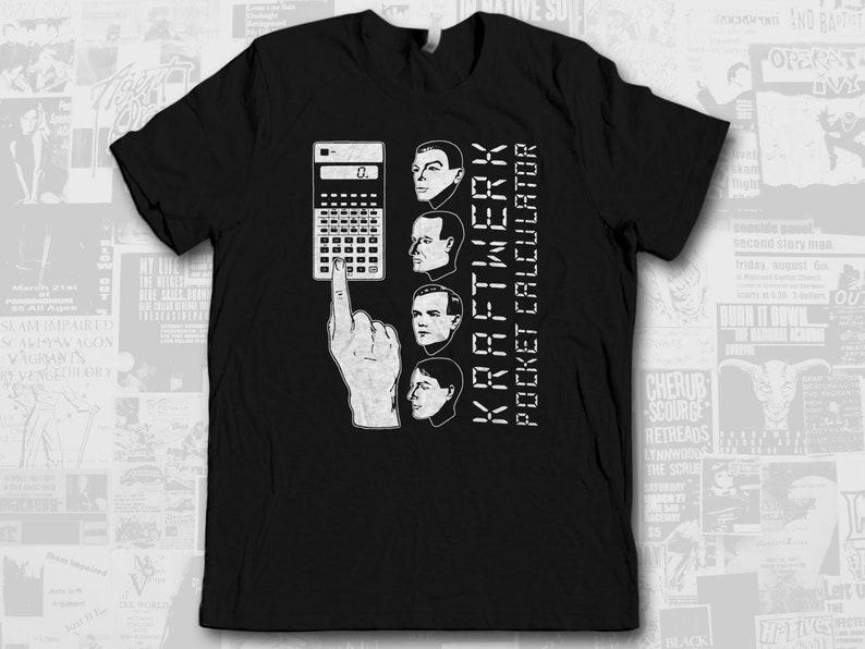 Kraftwerk Pocket Calculator Retro Synth New Wave Prog Shirt