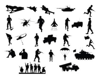 military silhouette etsy military silhouette etsy