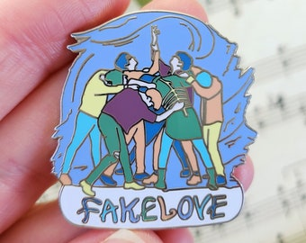 """Fake Love   BTS 1.5"""" Enamel Pin   Iconic Dance   Choreography Collection"""