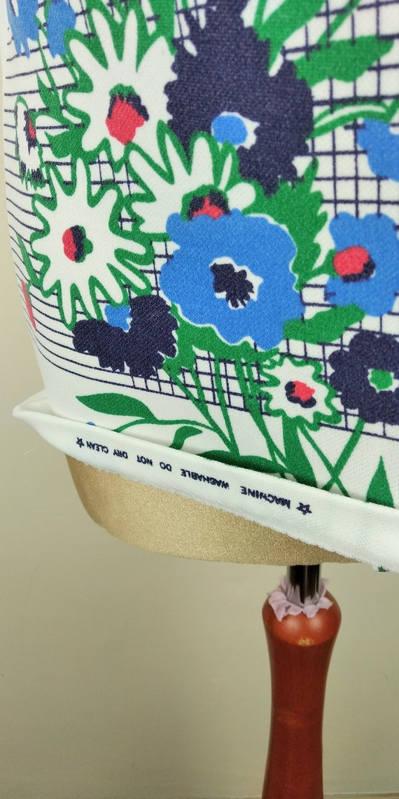 Vintage 70s Cuban Collar Floral Lightweight Butto… - image 4