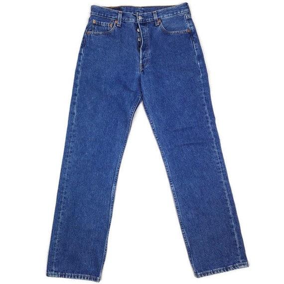 Vintage 1999 Levis 501 Blue Denim Jeans 30x30 Mom