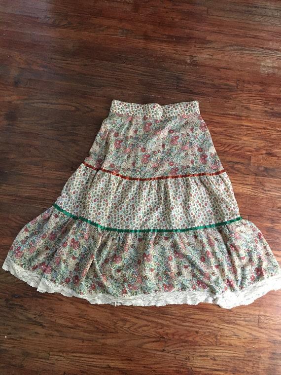 Vintage prairie skirt Gunne Sax inspired medium