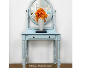Vanity Table With Mirror/Modern Farmhouse/Bedroom Or Bath/Storage/Home And  Living/Home Décor/Decorative/Entry/Girlu0027s Vanity/Makeup Vanity/