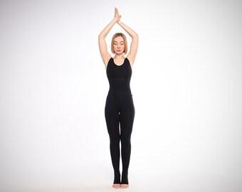 eac987e85f Black yoga unitard. Woman yoga suit. Bodysuit. Catsuit. Jumpsuit.  Activewear. Fitness suit. Yoga clothing. Yoga wear. Yoga overall