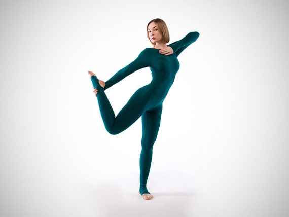 Sarasvati. Unitard yoga émeraude. Costume de femme dyoga.  52f95fc907b