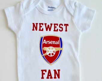 edf4f4651be3e Arsenal fan baby onesie!