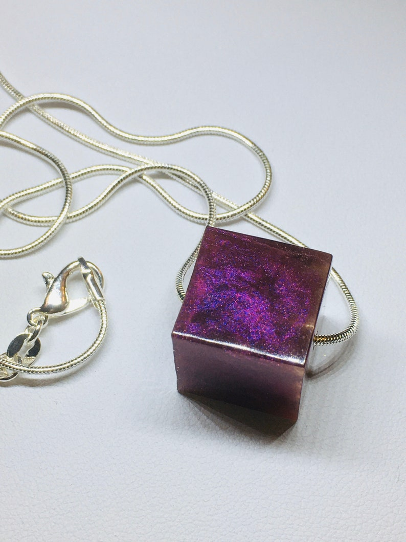 Limited Edition costume jewellery Single Purple CUBE image 0