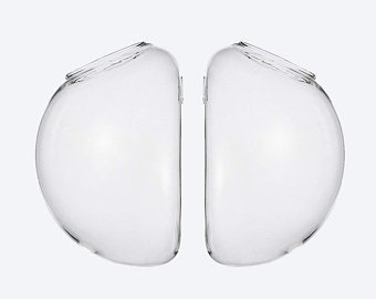 """Set Of 2 Large 6"""" Glass Wall Bubbles, Hanging Wall Vases, Bubble Wall Terrariums, Hanging Wall Planters, Hanging Glass Terrariums"""