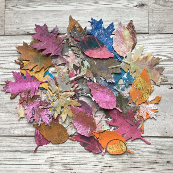 Skeleton Leaves Wedding// Scrapbook Embellishments//Toppers Various Colours