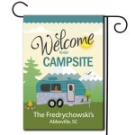 Personalized RV Camping Outdoor Flag - Welcome To Our Campsite