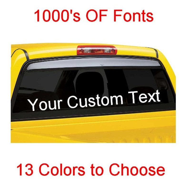 "Personalized 3/"" Custom Text Name Vinyl Decal Sticker Car Wall 16x Lettering max"