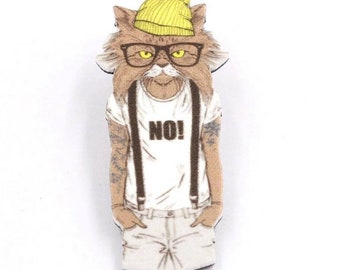 hipster cat costume