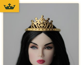 sliver Doll accessories Crystal diamond Crown for all dolls