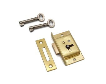 FOR HUMIDORS K-40-B MUSIC BOXES,OR JEWELRY BOXES GOLD PLATED SMALL BOX LOCK