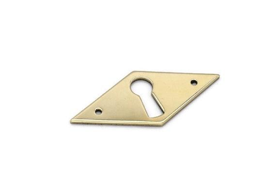 1 7//8 Keyhole Cover Plate Escutcheon Furniture Brass Key Hole Lock Plate