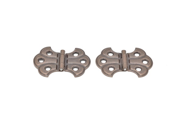 Butterfly Hinges Flush Mount Full Surface Hinge Antique Style Sold In Pairs