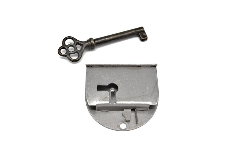 Antique Style Drop in Lock Full Mortise Door or Drawer Lock with Key Steel